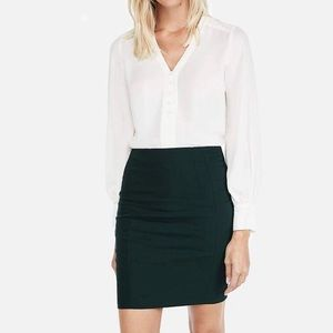 Green Clean Front Pencil Skirt by Express